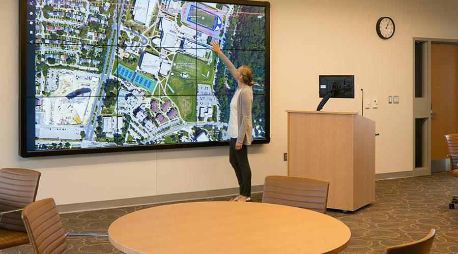 MSU BSSC interactive video wall